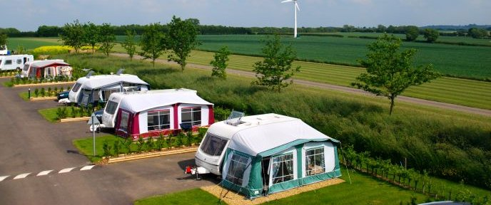 Eye Kettleby Lakes Caravan View