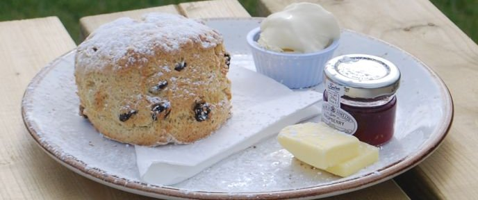 Eye Kettleby Lakes Tearoom Fresh Scone