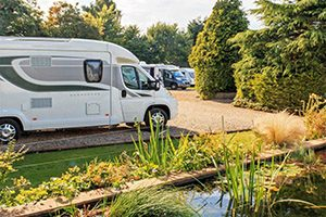Motorhomes at Bath Chew Valley Caravan Park
