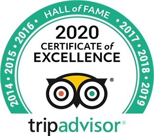 Trip Advisor 2020 Certificate of Excellence