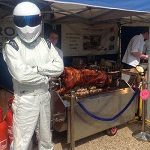 Hog roast at New Lodge Farm