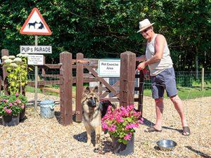 Pets Parade dog area at Bath Chew Valley Caravan Park