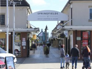 Springfields shoping centre near Delph Bank Touring Park