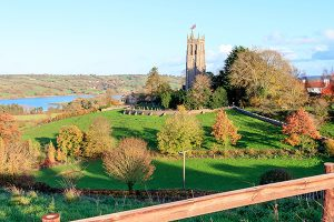 Blagdon Village in autumn