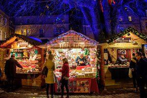 Bath Christmas Market chalets
