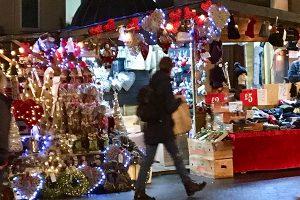 Christmas stall at Birmingham Christmas Market
