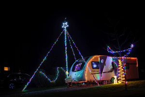 Camping at Christmas at Waterrow Touring Park