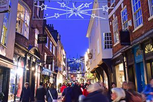 York's famous streets at Christmas