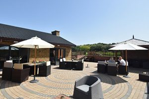 Eye Kettleby Lakes clubhouse patio