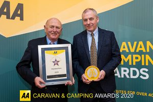 Charoland Farm receives AA Small Campsite of the Year award